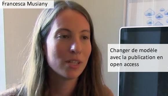 Francesca Musiany - changer de modèle avec la publication en open access