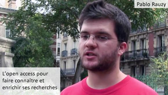 Pablo Rauzy - l'Open Access pour faire connaître et enrichir ses recherches