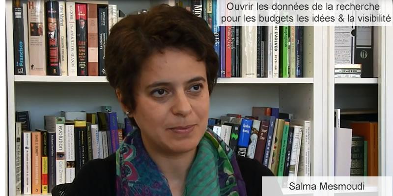Salma Mesmoudi - ouvrir les données de la recherche pour les budgets, les idées &la visibilité